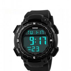 50M Waterproof Digital Watch With Stop Watch - Black