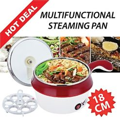 18cm Multifunction Electric Cooker - Red