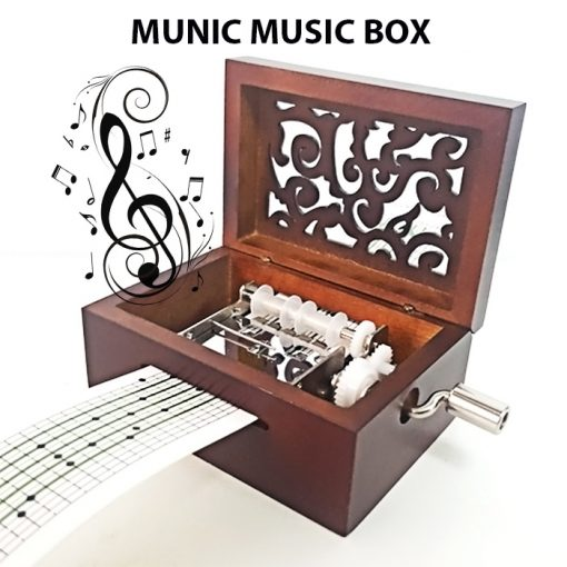 15 Note Munic Music Box with Music Sheet - Brown