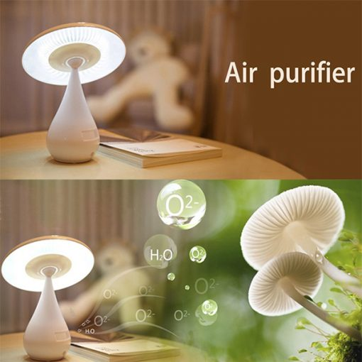 Mushroom Air Purifying LED Desk Lamp - White