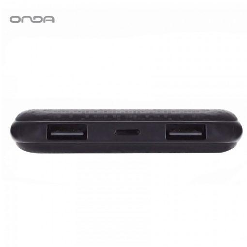Onda N100T Plus Dual Port 10,000 Mah Powerbank With Lightning And Micro USB Charging Port - Black