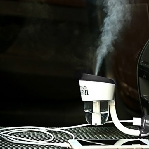 Nanum Car Humidifier II with Mobile Charger - Black