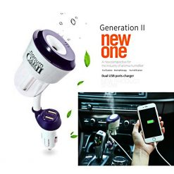 Nanum Car Humidifier II with Mobile Charger - Blue