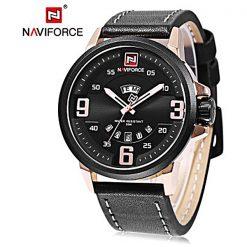 NAVIFORCE NF9086 Men Quartz Movement Watch - Black