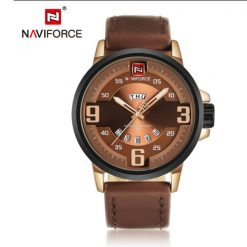NAVIFORCE NF9086 Men Quartz Movement Watch - Brown
