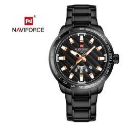 NAVIFORCE NF9090 Men Quartz Movement Watch - Rose Gold