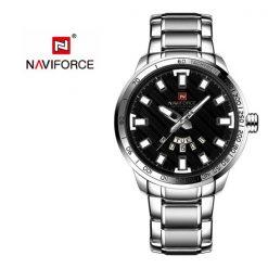 NAVIFORCE NF9090 Men Quartz Movement Watch - Silver