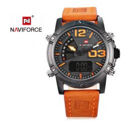 NAVIFORCE NF9095 Men Dual Movement Watch - Orange
