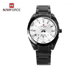Naviforce 9038 Male Quartz Watch - White / Black