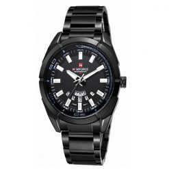 Naviforce NF9038M 30M Waterproof Stainless Steel Watch  - Black