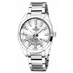 Naviforce NF9038M 30M Waterproof Stainless Steel Watch  - Silver/White