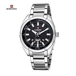 Naviforce NF9038M 30M Waterproof Stainless Steel Watch - Silver