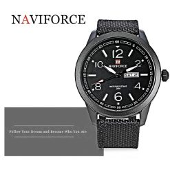 NAVIFORCE Luminous Calendar Display Men Quartz Watch - Black