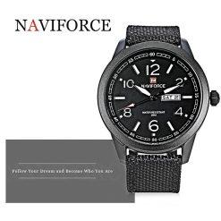 NAVIFORCE Luminous Calendar Display Men Quartz Watch - Black
