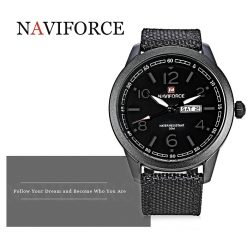 NAVIFORCE Luminous Calendar Display Men Quartz Watch - Gray