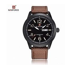 NAVIFORCE Luminous Calendar Display Men Quartz Watch - Brown