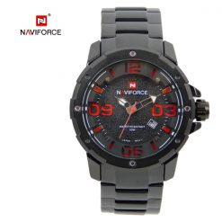 Naviforce 9078 Dial Analog Watch for Men - Red