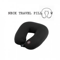 Neck Pillow with Electric Massager - Black