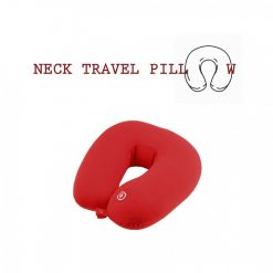 Neck Pillow with Electric Massager - Red