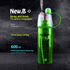 600 ml New B Drink and Spray Water Bottle - Green