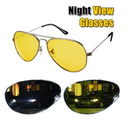 Aviator Night View Sunglasses - Yellow