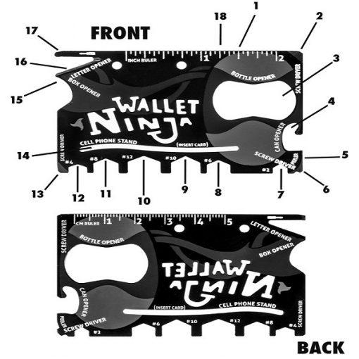 Ninja Wallet Sized 18 in 1 Tool