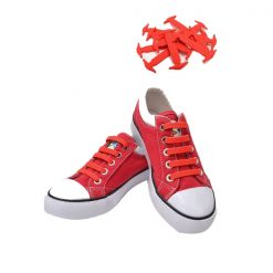 No Tie Silicone Shoe Laces Size For Children - Red
