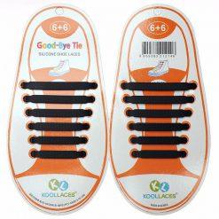 No Tie Silicone Shoe Laces Size For Children - Black