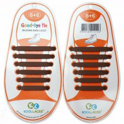No Tie Silicone Shoe Laces Size For Children - Brown