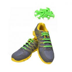 No Tie Silicone Shoe Laces Size For Children - Light Green