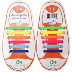 No Tie Silicone Shoe Laces Size For Children - Multi- Color