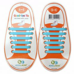 No Tie Silicone Shoe Laces Size For Children - Skyblue