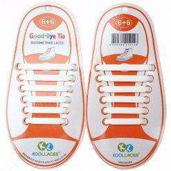 No Tie Silicone Shoe Laces Size For Children - White