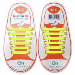 No Tie Silicone Shoe Laces Size For Children - Yellow