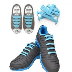 No Tie Silicone Shoelaces Size For Adult - Light Blue