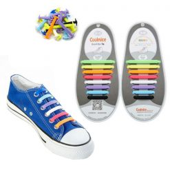 No Tie Silicone Shoelaces Size For Adult - Multi-Color