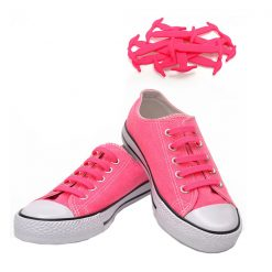 No Tie Silicone Shoelaces Size For Adult - Pink