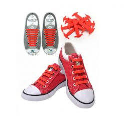 No Tie Silicone Shoelaces Size For Adult - Red