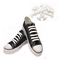 No Tie Silicone Shoelaces Size For Adult - White