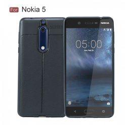 Nokia 5 Autofocus Silicon Back Cover Case - Black