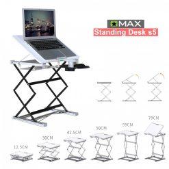 Omax Standing Desk S5 Min 30 to 79 cm – White