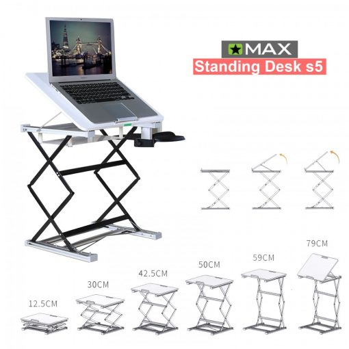 Omax Standing Desk S5 Min 30 to 79 cm – White