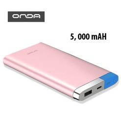 ONDA V50T 5,000 mAh Micro and Lightning Charged Powerbank - Pink