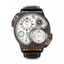 OULM Dual Time Watch 3578 - White