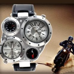 OULM Military Army Watch With Compass  - White