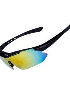 Polarize Sunglasses With 4 Interchangeable Colored Lens - Black