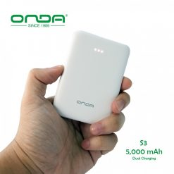 Onda S3 5000 mAh Ultra Lightweight Mini Powerbank - White