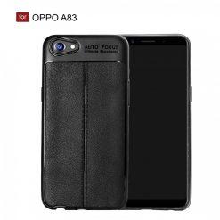 OPPO A83 Autofocus Silicon Back Cover Case - Black