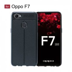 Oppo F7 Autofocus Silicon Back Cover Case - Black