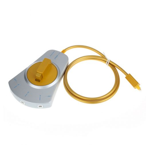 Optical Cable Audio Switch 3 to 1 - Silver/Gold
